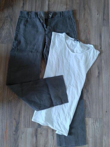 Lanene pantalone h & m zenske i majica. Vel L. Cena za sve