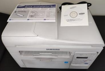 Samsung SCX 3405F laser printer, fax, copier with multiple page
