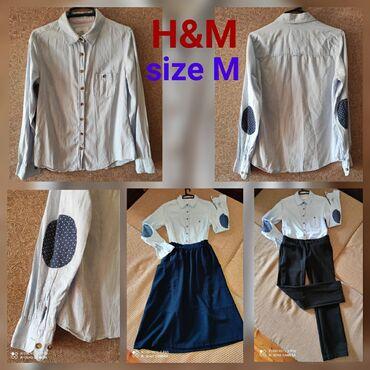 Köynək HM Рубашка марки Н&М На М размер. Б/у, хорошее состояние