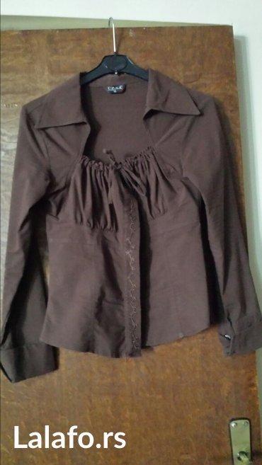 Jakna-luciano-placena-ustrucena-obukla-sa - Srbija: Ženska košulja, polovna, dobro očuvana, ustrucena, sa elastinom 38