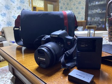lens - Azərbaycan: Canon EOS Rebel T6i digital SLR with EF-S 18-55mm STM lens-Wi-Fi and