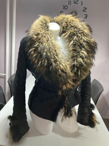Kozna jakna sa krznom - Srbija: Kozna jakna sa prirodnim krznom. Punija .Krzno rakuna