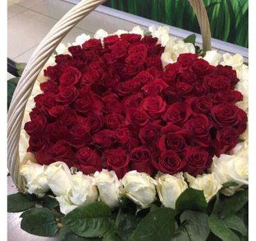 Огромная корзина Роз, в которой в Бишкек