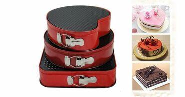 Kuća i bašta - Valjevo: Set od 3 različita kalupa za kolače i torteSamo 1450dinara.Porucite