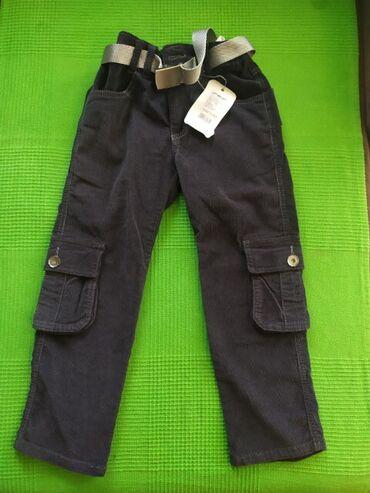Pantalone - Srbija: 1. Somot pantalone sa džepovima sa strane, siva miš boja, NOVO