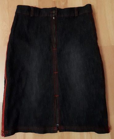 Crna i plava teksas suknjica,  ocuvane. Neostecene. Vrlo malo - Jagodina