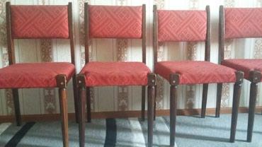Стулья деревянные б/у(Чешские) 6штук ,цена за один стул 800сом в Бишкек