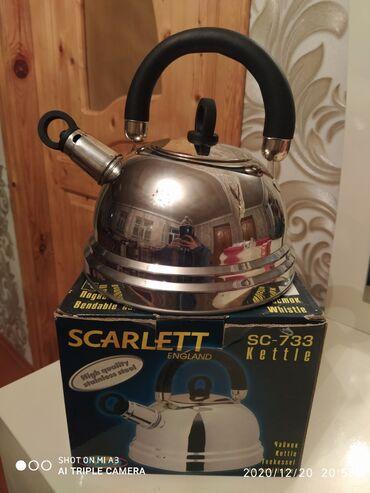 tefal чайник в Азербайджан: Scarlet firması. 2.5 lt tutur. Yenidi islenmeyib