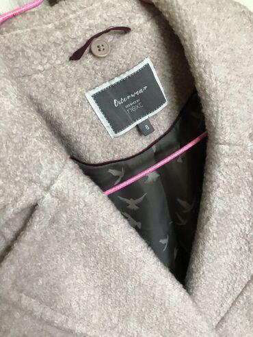 next shorty в Кыргызстан: Пальто английского бренда NEXT, размер 8 (S). Цвет-пудра