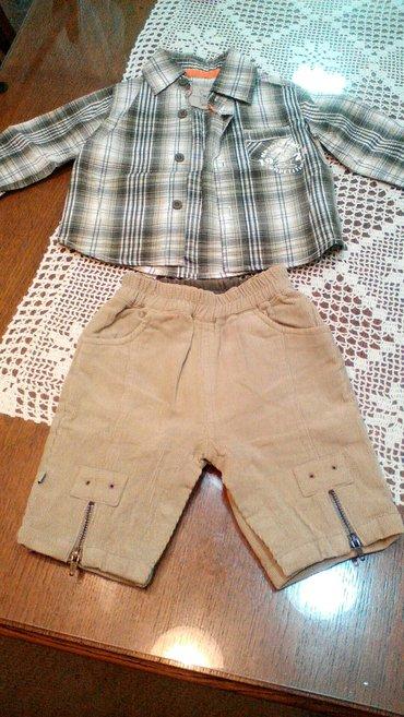Za decu | Pancevo: Pantalone i košulja za bebe. Pantalone imaju drikere,kad se beba