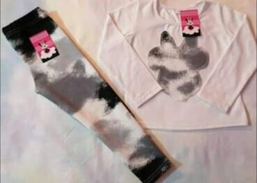 Majice na veliko - Srbija: Komplet - majica i helanke, rade se u velicinama od 2 do 12, cena je