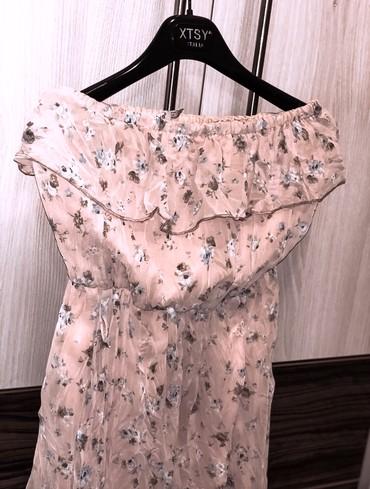 Šarena, letnja, roze, lepršava haljinica. S/M vel. Napred kratka, - Kragujevac