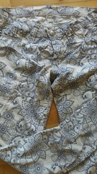 Pantalone uske - Srbija: Zenske pantalone materijal kao teksas 30 velicina bez ostecenja