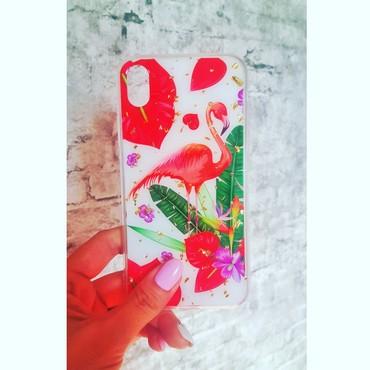 чехлы книжки для телефонов в Кыргызстан: Чехол на айфон с фламинго, классный чехол на лето.зарядные устройства