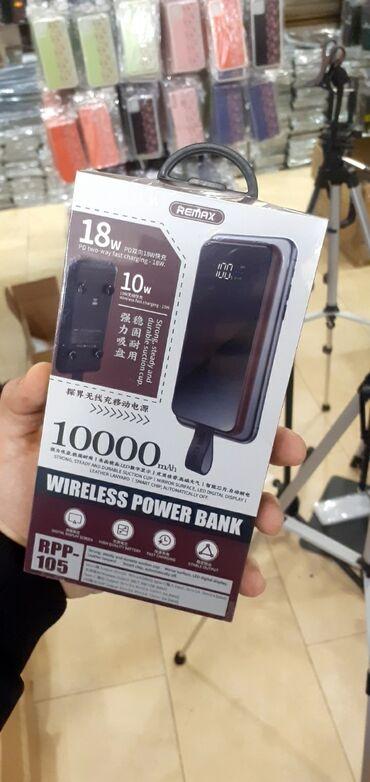 бу аккумулятор в Азербайджан: Wirless Power Bank 10 000 Mah🔴Heç yerdə original malı bu qiymətə