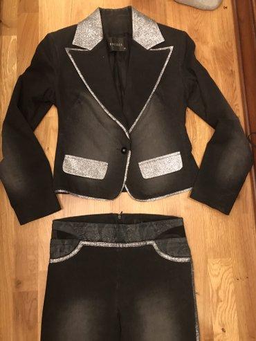 Шикарный итальянский костюм!!!!! джинса! размер 40/42 в Бишкек