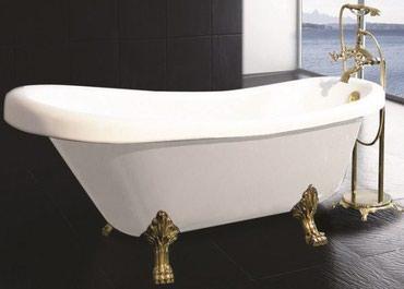 эмалировка ванн бишкек в Кыргызстан: Ванны моделей Solo CL1 Bristol White 170*76*50*55 с золотыми