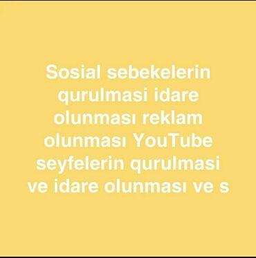 Работа - Говсаны: Herkese salam sosial sebekelerinizin qurulmasi rekalm olunması idare