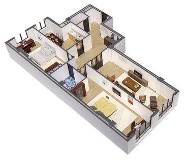 пластик для потолка цена в Кыргызстан: Продается квартира: 3 комнаты, 110 кв. м