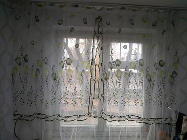 занавески в кухню в Кыргызстан: Занавески Для кухни Еть голубая, зеленая  Занавеска 1 шт 200 сом