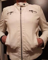 Jako lepa bela jakna od eko koze,mekana. Velicina 40. Nikad - Kovacica