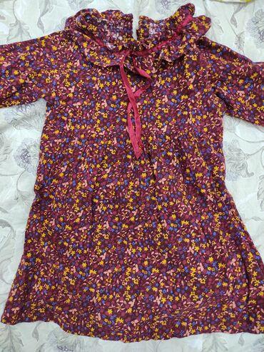 Платье на 4-5 лет. На весну- осень. Состояние отличное! Хлопок