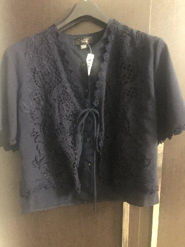 рубашка синего цвета в Кыргызстан: Кофта женская, размер 48-50, новая, брали в Италии, цвет темно-синий