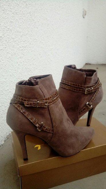 Ženska obuća   Bogatic: Zenske cipele na stiklu. Br 41. Jednom nosene