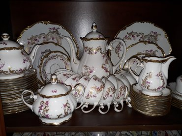 Sumqayıt şəhərində Çay dəsti. 12 person. 55 qabı var. Almaniya istehsalı.