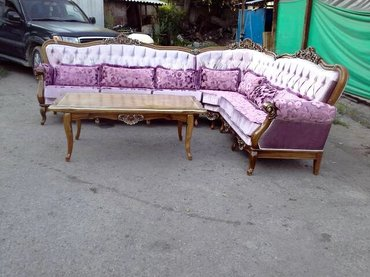 Угловой диван,полностью из массива в Бишкек