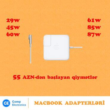 Noutbuklar üçün adapterlər - Azərbaycan: Apple Macbook adapterləriÜnvan: 28 MayMetrolara çatdırılma