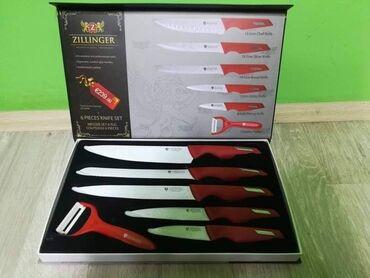 Kuća i bašta - Lajkovac: Set Zillinger Noževa crveniSamo 1600 dinara.Porucite odmah u Inbox