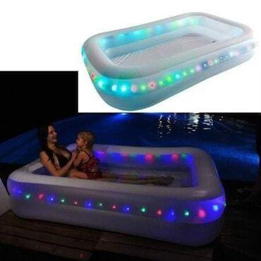 Ostalo | Veliko Gradiste: NOVO Bazen 200x150x50 cm S ugrađenim LED svetlima za efektno noćno