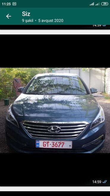 hunday sonata - Azərbaycan: Hyundai Sonata 1.6 l. 2016 | 68000 km