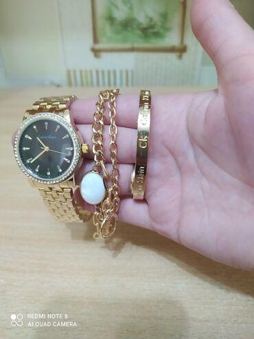 бисеры бишкек in Кыргызстан | ҮЙ ЖАНА БАКЧА ҮЧҮН БАШКА БУЮМДАР: 1)Набор: часы+ 2 браслета. Ремешок регулируется, нержавеющая сталь