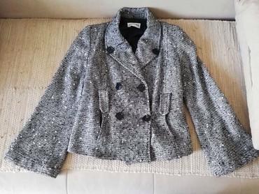 Kaput-fervente - Srbija: Fervente, kaputic/jaknica protkana srebrnim lameom, br.42