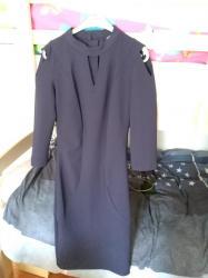 Haljina uz telo - Srbija: Teget haljina uz telo, veličina 36/S. Boja je intenzivna nije kao na