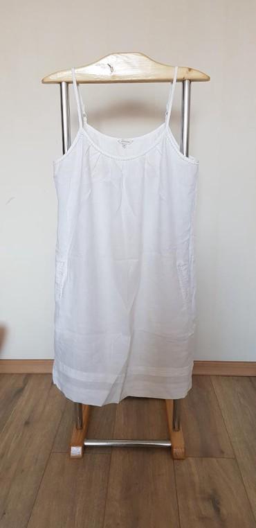 белое летнее платье в Кыргызстан: Летнее женское льняное платье, белого цвета. фирмы монсун размер 50