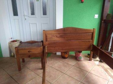 Krevet i ormaric od punog drveta,veoma kvalitetno,sastavi se u - Sombor