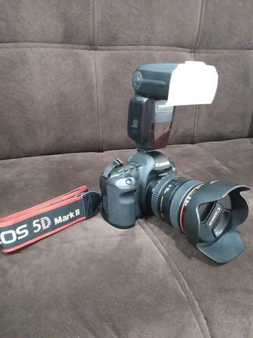 canon eos 5d mark ii в Азербайджан: Canon eos 5D mark ii +24-105mm obyektiv+probeg 13k ancaq sekil cekib