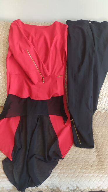 Турецкий костюм с брюками размер 44-46 состояние хорошее цена 1000 сом