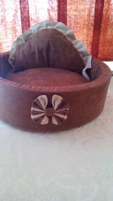 Lezaljka boje cokolade :) precnik 50cm. Materijal:sundjer,platno nalik - Belgrade