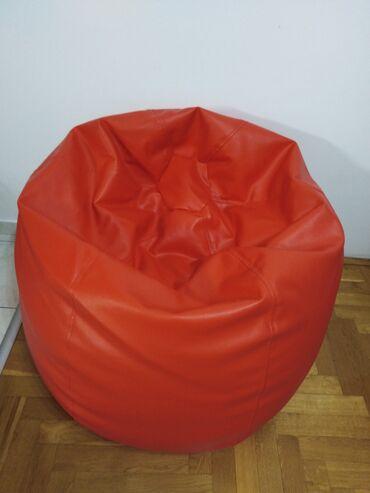 Od skaja - Srbija: Na prodaju nov džambo lazy bag od crvenog skaja sa mogućnošću skidanja