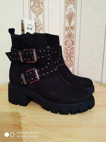 Новые Деми ботинки, можно носить зимой, натуральная замша