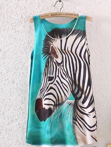 Новая маечка -туника,принт зебра размер 44-46-48 отличного качества