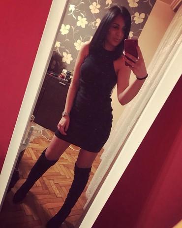 Crna haljinica od rebrastog pamuka, jako lepo stoji, velicina je - Sremska Mitrovica