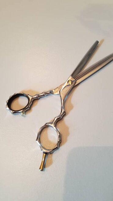 Филировочные ножницы новые, кобальт. Болтик можно регулировать
