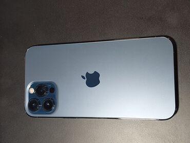 айфон 12 цена ош in Кыргызстан | ЗАРЯДНЫЕ УСТРОЙСТВА: IPhone 12 Pro Max | 128 ГБ | Синий Б/У | Гарантия, Беспроводная зарядка, Face ID