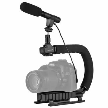 Другие аксессуары для фото/видео в Кыргызстан: Стабилизатор для камеры с микрофоном