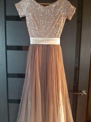 Вечернее платье( длинное в пол, размер s) очень красивое цвет шикарн